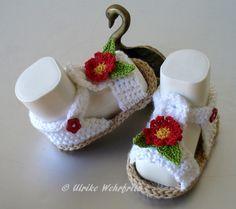 Strick- & Häkelschuhe - Babyschuhe Baby Sandalen - ein Designerstück von strickliene bei DaWanda