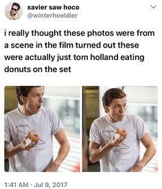 """Like father like son! Remember all the snacks RDJ had with him on he set of Avengers? """"Blueberry?"""""""