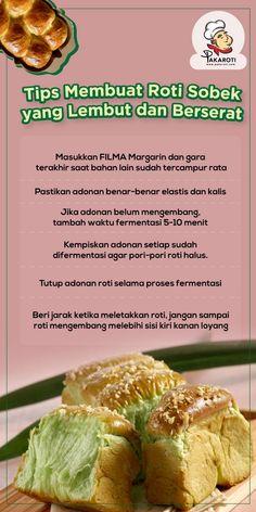 Food N, Diy Food, Food And Drink, Baking Tips, Bread Baking, Roti Recipe, Bread Cake, Indonesian Food, Yummy Cakes