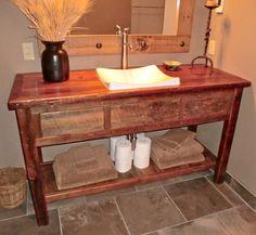 Versiniti   Series I Vanity   contemporary   bathroom vanities and   homemade rustic furniture   Custom   Rorys Rustic Furniture. Homemade Bathroom Vanity. Home Design Ideas