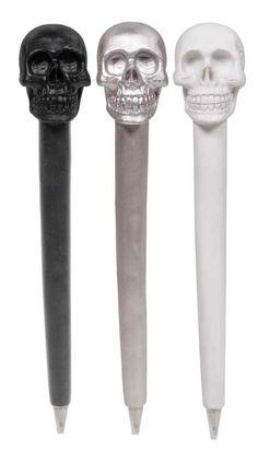 Skull Pens Set Of 3