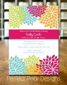 Bridal Shower Invitation-blooming