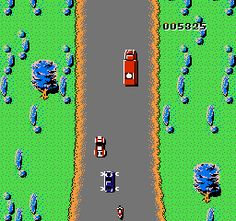 @Jane Mulvihill, may I present Spy Hunter, a seriously fun video game from the 1980's.