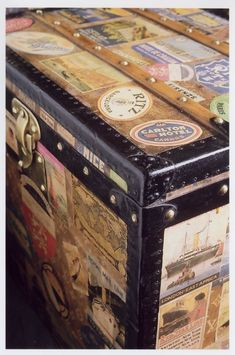 Love the idea of using an old vintage trunk as a coffee table or at end of bed for storage