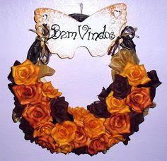 Bem-Vindos  Guirlanda de Rosas Simone Uller Rosas Artesanais