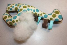 stuffed ribbon giraffe tutorial