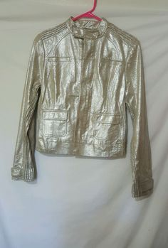 NWT BeBe Motorcycle Jacket Gold Glitter #bebe #Motorcycle