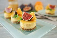 Käsekuchen-Törtchen mit Orangen & Feigen