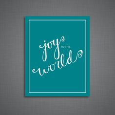 Joy to the World Art Print by DulyNotedDesign on Etsy  Christmas print, Christmas decor