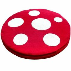Seat Floor Cushion Magical Mushroom RED/ WHITE by littleoddforest