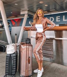 Page 2 of 5 - style o check cute travel outfits, airport travel outfits, ch Airport Travel Outfits, Cute Travel Outfits, Travel Outfit Summer, Sporty Outfits, Airport Style, Mode Outfits, Stylish Outfits, Summer Outfits, Fashion Outfits