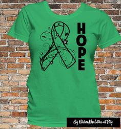 Hope Ribbon shirts for causes such as Adrenal Cancer, Bile Duct Cancer, Kidney Cancer, Cerebral Palsy, Gastroparesis, Kidney Disease, Mitochondrial Disease, Neurofibromatosis, Spinal Cord Injury, TBI, Organ Transplant, Stem Cell Transplant and Bone Marrow Transplant awareness.