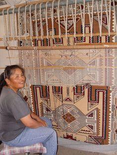 Cecelia Nez Teec Nos Pos Navajo Rug