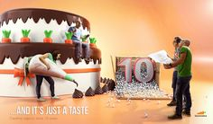 It's our 10-year anniversary,Thank you  everyone #creativity #happybirthday #3d #advertising #creativeagency