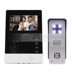 76.98$  Watch here - http://alio6j.worldwells.pw/go.php?t=32498911965 - DIYSECUR 4.3 inch TFT Color LCD Display Aluminum Alloy CCD Camera Video Door Phone Intercom Doorbell LED Color Night Vision