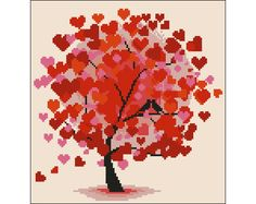 Ponto Cruz em PDF - Árvore Vermelha