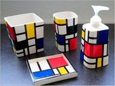 DIY Mondrian Style Bathroom Kit   Shelterness...There no words to describe how very much I LOVE this.