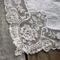 Lace Edge Vintage Handkerchief Wedding Hanky