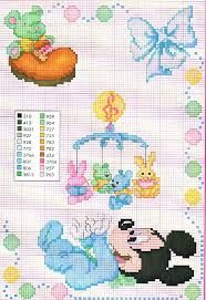 Resultado de imagen para punto de cruz para bebes