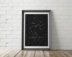 Zodiac Constellation Art Printable - Little Gold Pixel Aquarius Constellation Tattoo, Handy Iphone, Printable Art, Printables, Cool Wall Decor, Zodiac Constellations, Cool Walls, Home Art, Wall Art