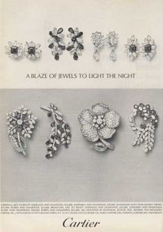Cartier Diamond Emerald Sapphire Rubies Jewelry (1964)