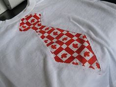 Dragonfly Designs: Sewing - Canada Day T-Shirts Good Tutorials, Sewing Tutorials, Canada Day Shirts, Shirt Tutorial, Tied Shirt, Summer Crafts, Animal Tattoos, Wedding Designs, Christmas Sweaters