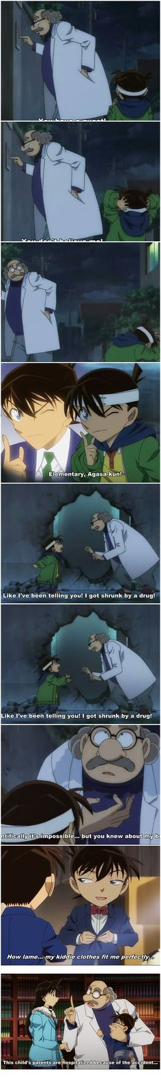 Shinichi, explaining his situation