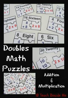 FREE Doubles Math Puzzle Printable