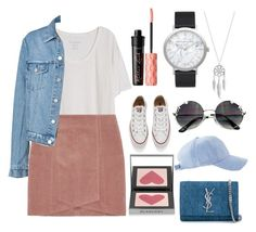 """""""Casual sunday"""" by marwaghannami on Polyvore featuring mode, Fine Collection, Converse, Yves Saint Laurent, Lucky Brand, Elwood, Burberry et Benefit"""