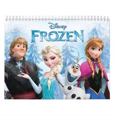 A 2016 calendar with a variety of scenes from Disney's movie Frozen including the beautiful Elsa and the rest of the characters!