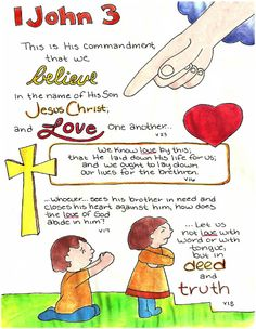 Doodle Through The Bible: 1 John 3 Free printable PDF Coloring page link at the website. Also visit the new FACEBOOK page!