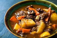 Lamb Shank Stew with Root Vegetables ~ Lamb stew made with lamb shanks… Lamb Shank Stew, Lamb Stew, Lamb Shanks, Lamb Shank Recipe, Lamb Recipes, Soup Recipes, Cooking Recipes, Oven Cooking, Casserole Recipes