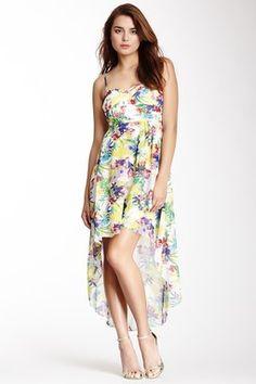 Printed Hi-Lo Dress