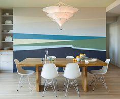 покраска стен в несколько цветов