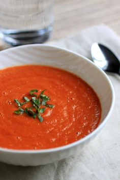 Paleo tomato basil soup -- add coconut milk to make it thicker and creamier