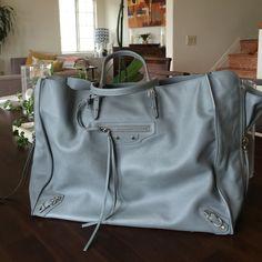 NEW Balenciaga Papier A4 zip around leather tote New Balenciaga papier A4 leather leather tote in light grey.  Soft supple Balenciaga leather. Balenciaga Bags Totes