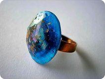 Orgon-Ring - Einstellbare Größe - Blau