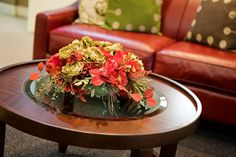 A Bright Coffee Table Arrangement Coffee Table Arrangements, Coffee Table Centerpieces, Table Decorations, Artificial Flowers, Flower Designs, Bright, Ideas, Home Decor, Fake Flowers
