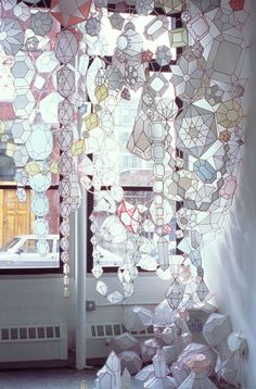 I want: jewel installation by Kirsten Hassenfeld. On Apartment Therapy via The Jealous Curator #art #decor #justgorgeous