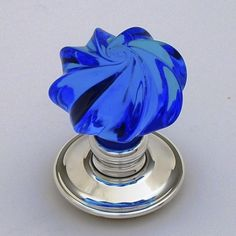 blue glass door knobs. Buy Bespoke Glass Door Knobs - Handmade In England By Our Master Glassmaker. Best Quality From Priors Blue O