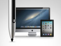 Pen 2 is a stylus that lets you write directly on your iMac screen! iPen 2 turns your non-touch Apple Display into pen display and is compatible with every application in Mac OS and Windows. Depending on how you use it the device can be a stylus or a mouse control.