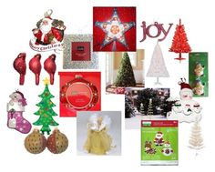 Christmas Holiday Decorations by shelly-gannon on Polyvore featuring interior, interiors, interior design, home, home decor and interior decorating