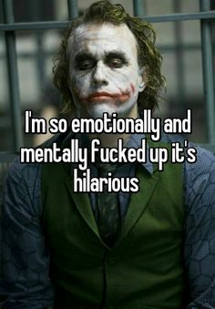 Broken parts, missing pieces,dented spots, and some added screws.it is kindafunny Dark Quotes, Wise Quotes, Mood Quotes, Motivational Quotes, Inspirational Quotes, Quotes On Eyes, Hell Quotes, Joker Qoutes, Best Joker Quotes
