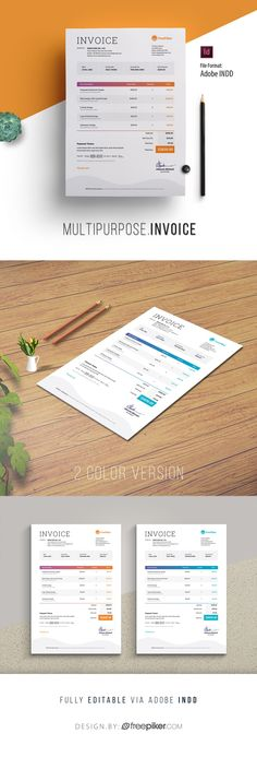 Minimalist Corporate Invoice