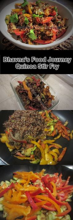 Quinoa Vegetable Stir fry/Salad - protein rich gluten free salad with flavours of ginger and black pepper
