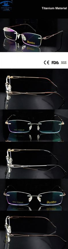 e1db697c44 Luxury Titanium Rimless Glasses Women Frameless Glasses Titan Eyeglasses  Frame Prescription Eyewear Rx  24.59