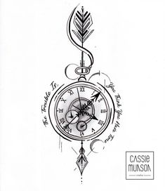 Pocket Watch Tattoo Commission by cassiemunson-art on Devian.- Pocket Watch Tattoo Commission by cassiemunson-art on DeviantArt Pocket Watch Tattoo Commission by cassiemunson-art on DeviantArt - Pocket Watch Tattoo Design, Pocket Watch Tattoos, Clock Tattoo Design, Compass Tattoo Design, Pocket Watch Drawing, Nautical Compass Tattoo, Pocket Watch Art, Compass Drawing, Mens Compass Tattoo