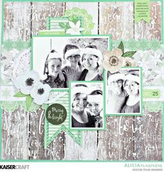 Kaisercraft Mint Wishes Layout by Alicia McNamara