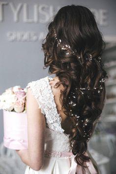 Bridal Extra Long Crystal Hair Vine 0.5-1.5 meters Hair