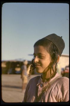 A Jewish Yemenite boy waiting in Aden, Yemen prior to his immigration to Israel; 1949.